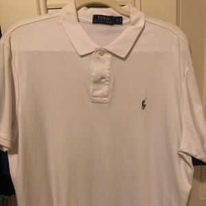 WHITE SOFT COTTON POLO - XL